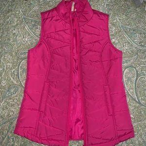 Hot pink light vest